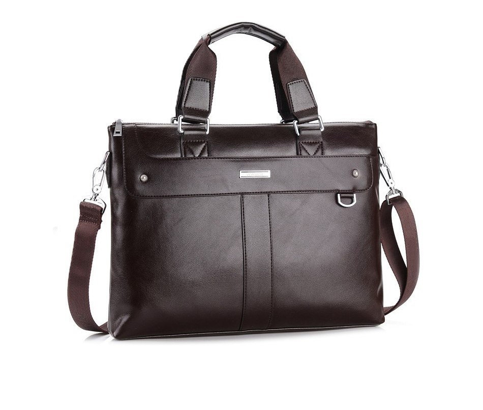 The Commuter Bag Leather Briefcase, Laptop Travel Shoulder Bag For Men