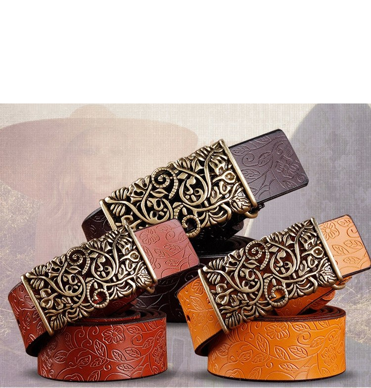 Women's Stylish Leather Buckle Belt