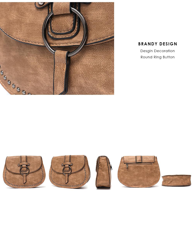 Crossbody Leather Messenger Casual Shoulder Bag