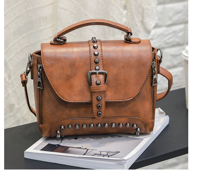 Vintage Leather Messenger Crossbody Women's Shoulder Handbag (TWH04)