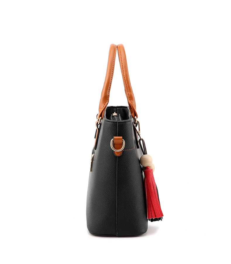 Tassel Women's Leather Shoulder Handbag Large Capacity (TWH07)