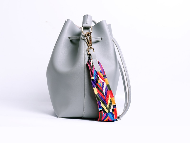 Women's Shoulder Handbag with Rainbow Strap (TWH23)