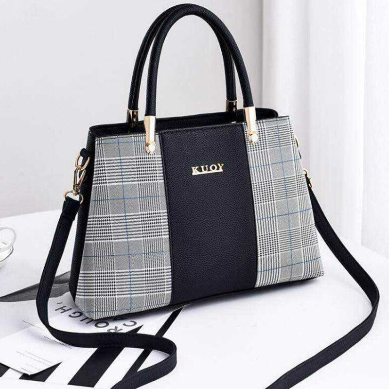 Women's Plaid Stylish Shoulder Handbag (TWH26)