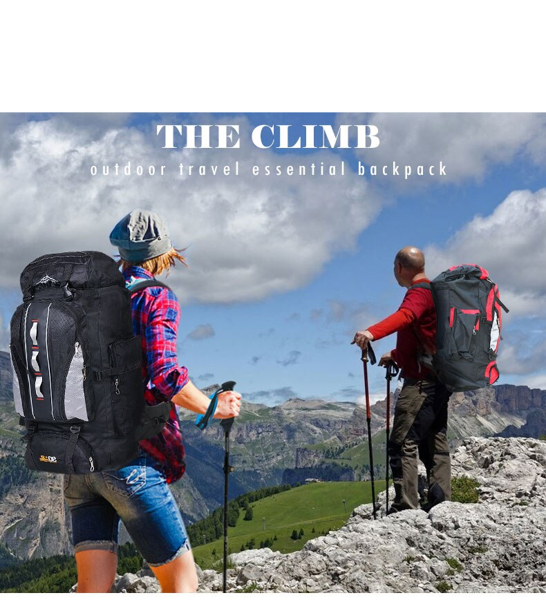 Backpack for Outdoor Sports, Travel, Hiking, Camping, Fishing, Climbing, Waterproof Bag, Large Capacity(TCP02)
