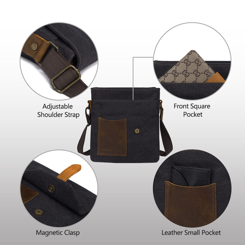 Men's Vintage Messenger Casual Bag Water proof Shoulder Crossbody Bag (TMC106)